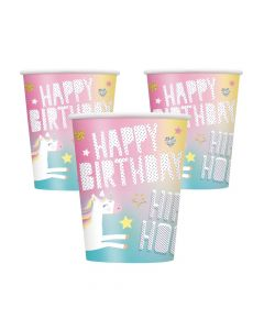 Unicorn Birthday Cups