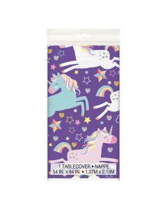 Unicorn Birthday Plastic Tablecloth