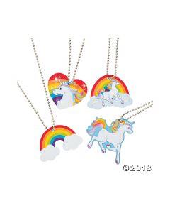 Unicorn Dog Tag Necklaces
