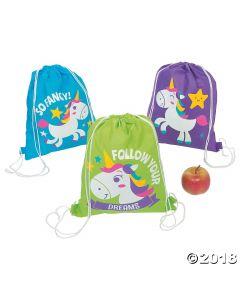 Unicorn Drawstring Backpacks