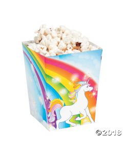 Unicorn Popcorn Boxes
