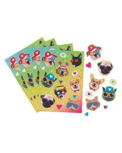 Valentine Cat and Dog Sticker Sheets