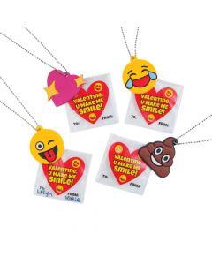 Valentine Emoji Necklaces with Card