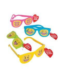 Valentine Emoji Pinhole Glasses