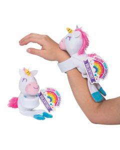 Valentine Hugging Stuffed Unicorns with Cards