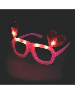 Valentine Light-Up Glasses with Hearts