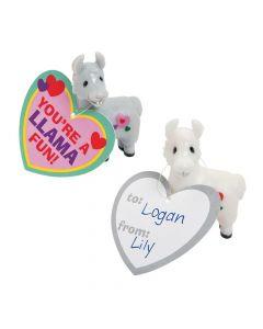 Valentine Llama Exchange Cards