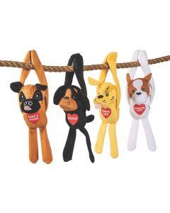 Valentine Long Arm Stuffed Dogs