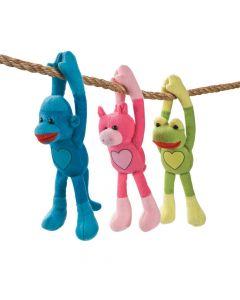 Valentine Long Arm Stuffed Monkey and Friends