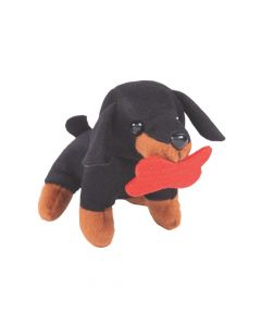 Valentine Stuffed Dogs with Bone