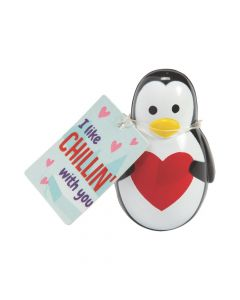 Valentine Wobble Penguins with Card