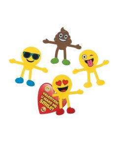 Valentine's Day Emoji Bendables with Cards