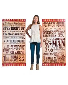 Vintage Circus Stand-Up Signs