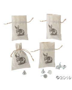 Vintage Easter Drawstring Treat Bags