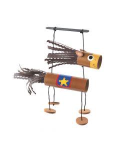 Western Horse Craft Tube Puppet Craft Kit