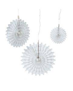 White Tissue Hanging Fans