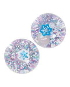 Winter Glitter-Filled Bouncy Balls