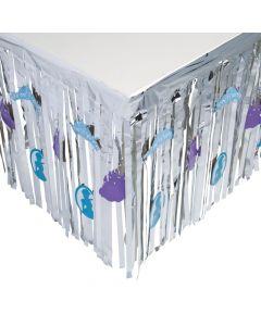 Winter Princess Fringe Table Skirt