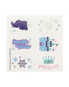 Winter Princess Sparkle Tattoos