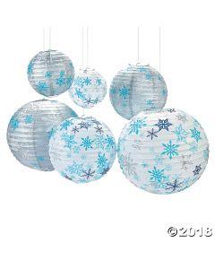 Winter Snowflake Hanging Paper Lanterns