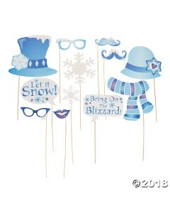 Winter Sparkle Photo Stick Props