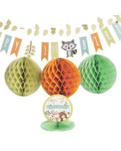 Woodland Party 1st Birthday Decorating Kit