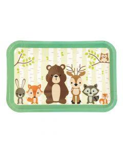 Woodland Party Paper Dessert Plates
