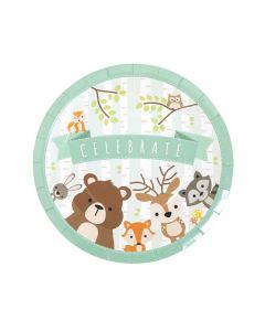 Woodland Party Paper Dinner Plates