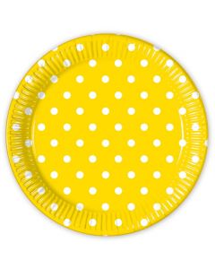 Yellow Dots Lunch Plate