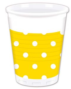 Yellow Dots Plastic Cup