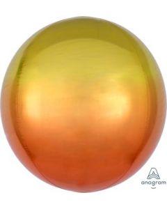 Yellow & Orange Ombre Orbz Balloon