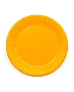 Yellow Paper Plates Large 23cm - Eco Friendly