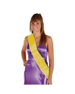 Yellow Royalty Sash