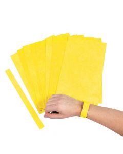 Yellow Self-Adhesive Wristbands