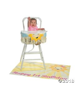 You Are My Sunshine 1ST Birthday High Chair Decorating Kit