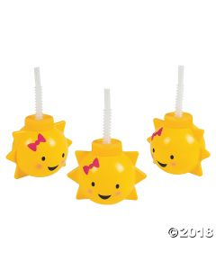 You Are My Sunshine Cups with Straws