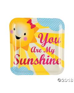 You Are My Sunshine Paper Dinner Plates
