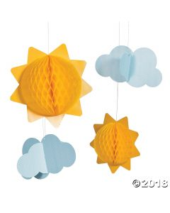 You Are My Sunshine Tissue Balls and Clouds