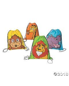 Zoo Adventure Drawstring Bags