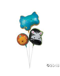 Zoo Birthday Mylar Balloons