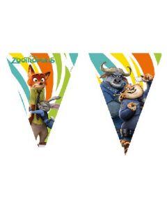 Zootropolis Triangle Flag Banner